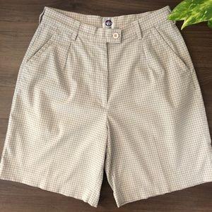 Vuarnet | Vintage Plaid High Waist Shorts